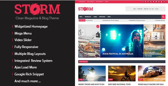 Storm - Clean Magazine & Blog Theme