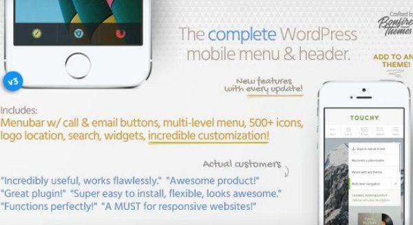 Touchy - WordPress Mobile Menu Plugin