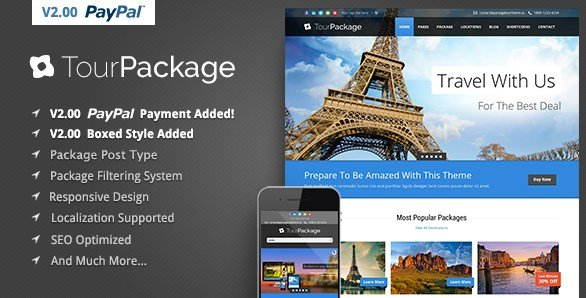 Tour Package - WordPress Travel Tour Theme