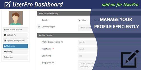 UserPro Dashboard