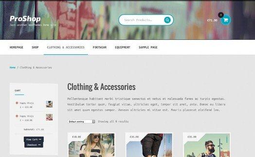 WooThemes Proshop Storefront WooCommerce Theme