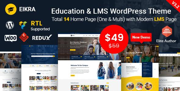 Eikra Education – Education WordPress Theme