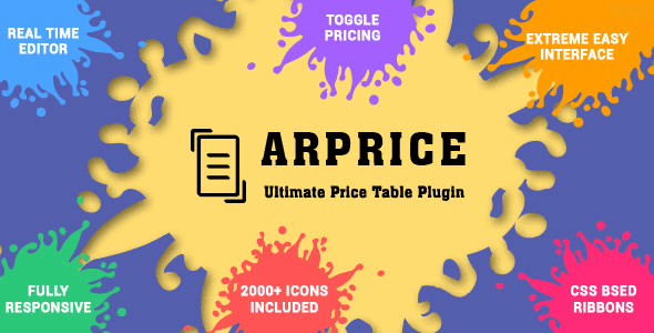 Arprice - WordPress Pricing Table