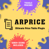Arprice - WordPress Pricing Table