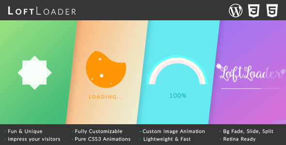 Loftloader Pro - Preloader Plugin For WordPress