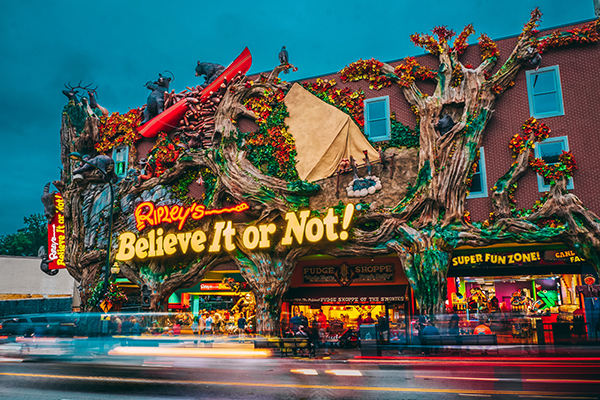 Ripley's Believe it or Not at night
