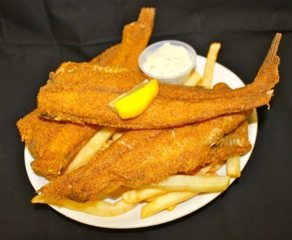 fried catfish and french fries