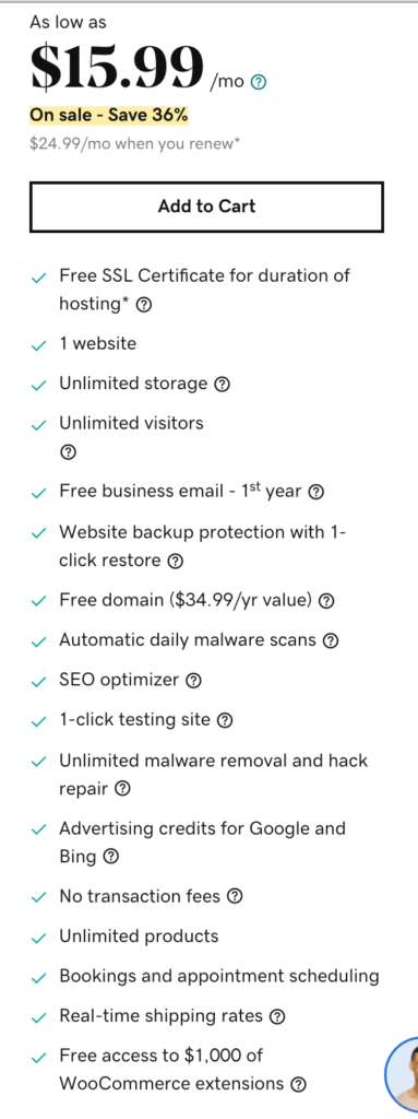 godaddy woocommerce features
