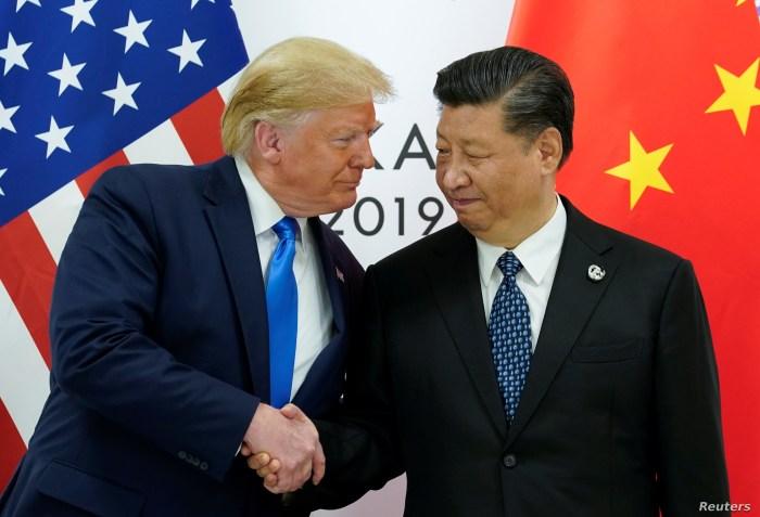 Trump meets Xi at the G20 leaders summit in Osaka, Japan