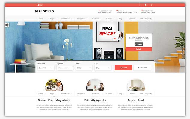 RealSpaces - WordPress Emlak Teması