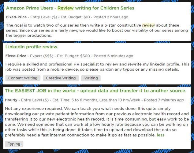 Internet Money Making Sites - Computer Money Making - Upwork other sample ads