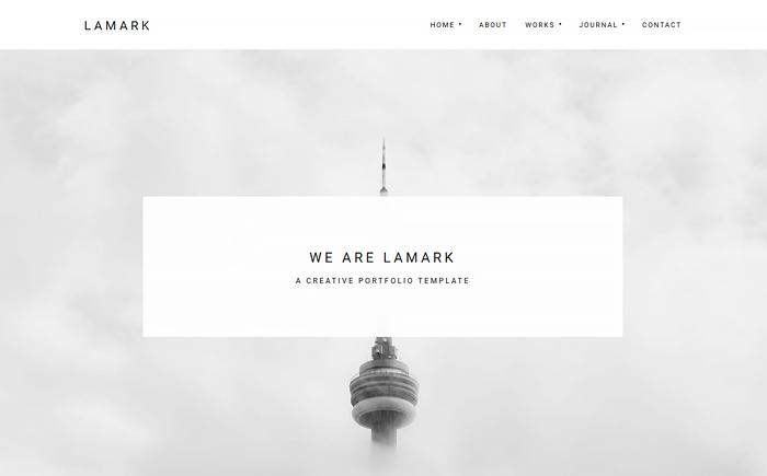 Lamark - Freelancers and Agencies Portfolio WordPress Theme