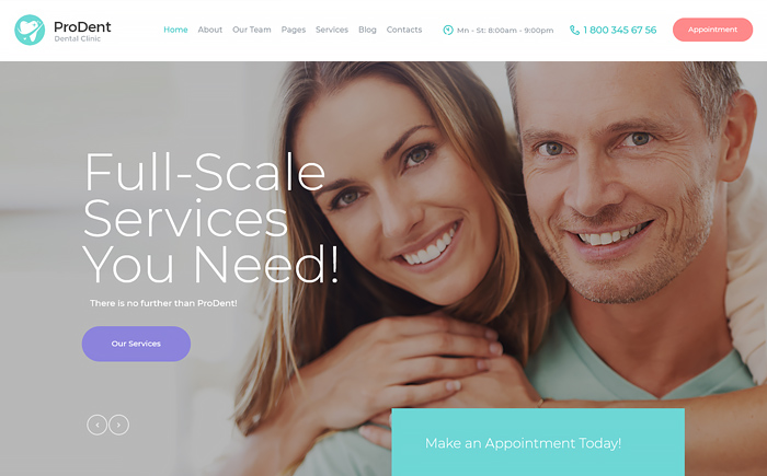 ProDent | Dental Clinic & Healthcare WordPress Theme
