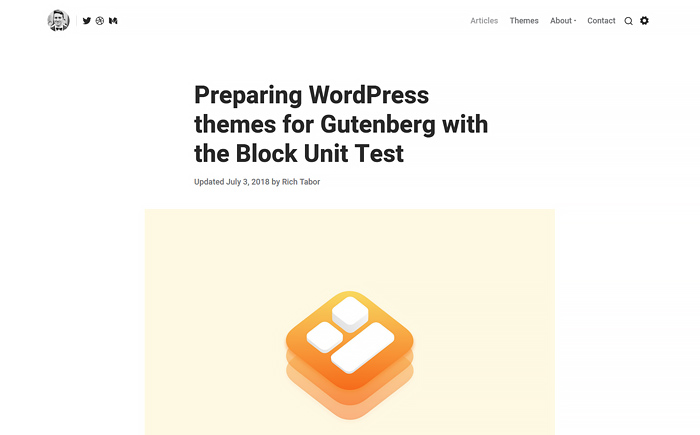 Tabor — Blog WordPress theme for Professional Writers & Coaches