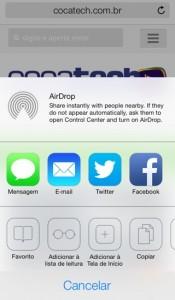 iOS7-safari-compartilhar