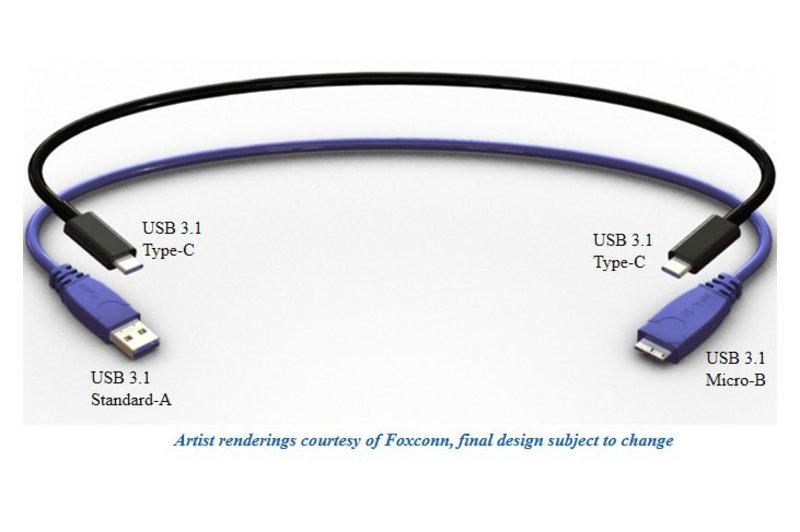 Eis o conector USB reversível