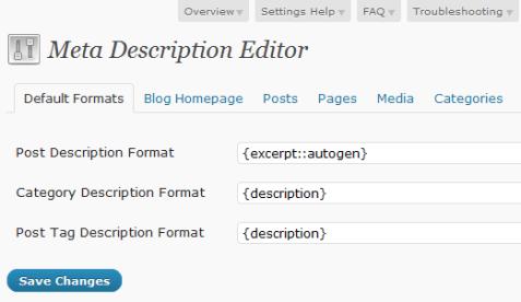SEO Ultimate Meta Editor