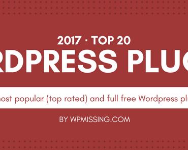 Top 20 Wordpress Plugins