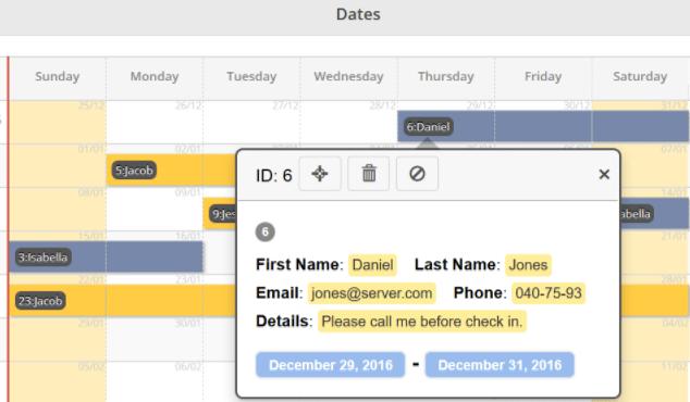 Booking Calendar Themes