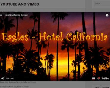 Responsive Youtube & Vimeo Video Lightbox For Wordpress