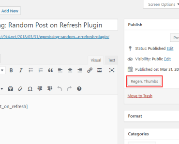 Regenerate WordPress Thumbnails Per Post