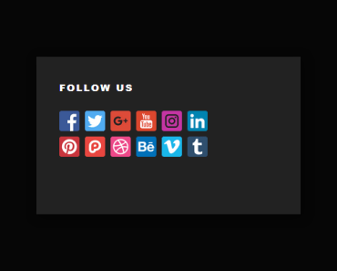 Social link widget Full Preview