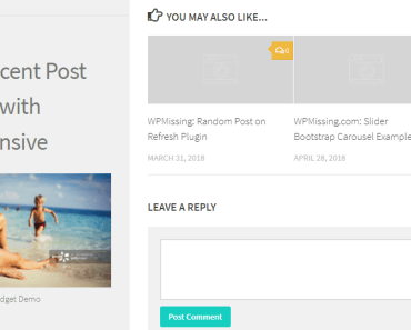 Newest Posts Widget Preview