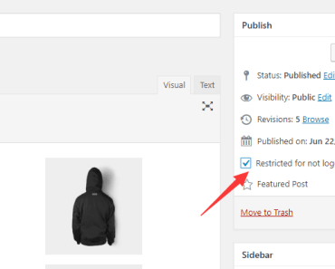 Hide Posts Pages Categories For Non-logged In Users - Anonymous Restricted Content Checkbox-min