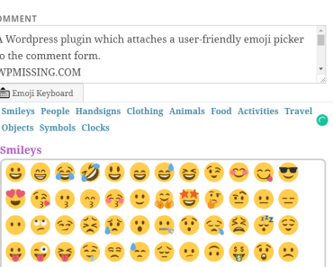 Emoji Picker For Comment Form-min
