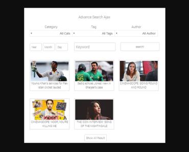 AJAX Live Search Plugin For Wordpress