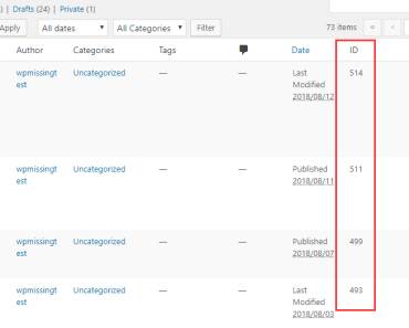 Show Posts And Pages ID Plugin List Column-min