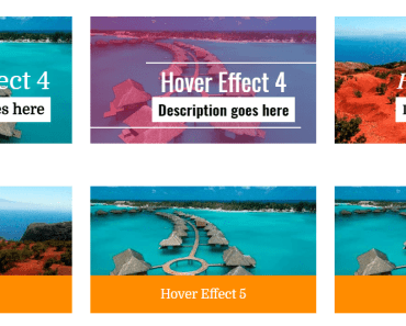 Create An Image Grid With 50+ Hover Effects - Essential Hover Effects Preview