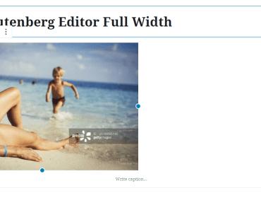 Make Gutenberg Editor Full Width