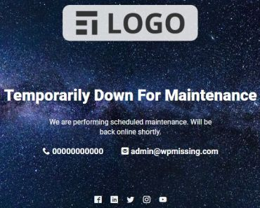 Create Professional Maintenance Mode Page For Wordpress Website