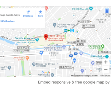 Google Maps Embed Using Shortcodes - Responsive iframe GoogleMap