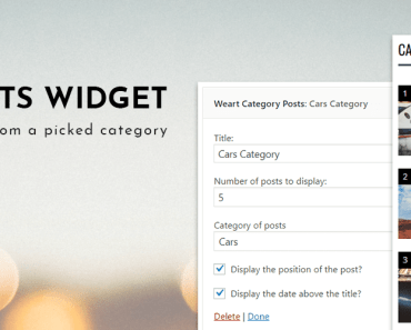 Latest Posts From Picked Category - Weart Category Posts Widget