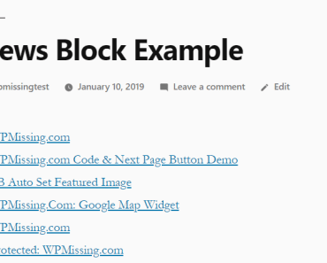 Minimal Post Page List Block For Gutenberg Editor - News Blocks