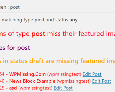 Check Missing Featured Images In Wordpress