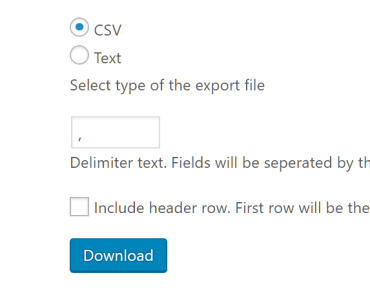 Choose the file type CSV or Text