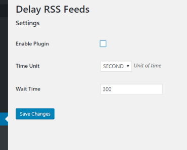 Delay Posts In Wordpress RSS Feed