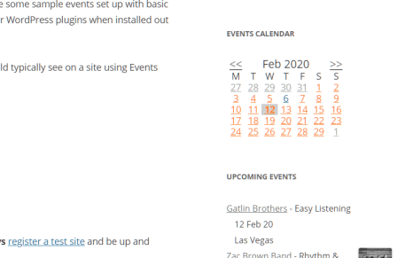 Events Manager Calendar