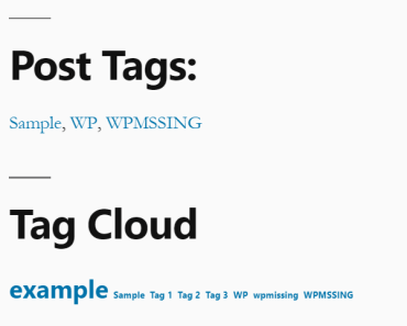 Show Current Post's Tags In A Sidebar Widget - Post Tags Widget