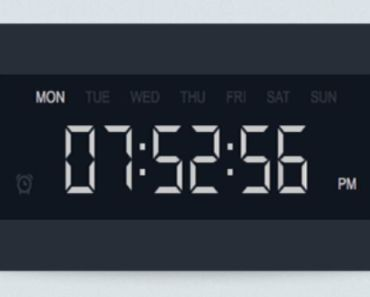 Minimalist Digital Clock Widget For Wordpress