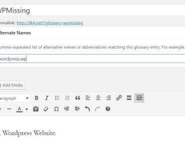 WPorg Glossary Entry