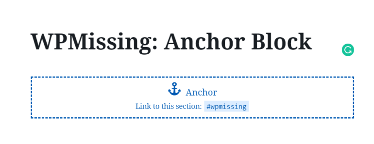 Create SEO-friendly In-page Navigation With Anchor Block