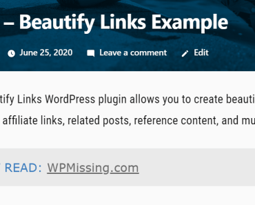 Create Beautiful Link Box In Wordpress - Beautify Links