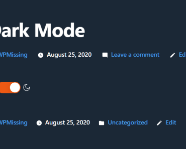 Simple Dark Mode Switcher For WordPress