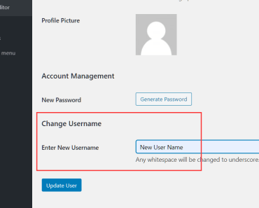 Change Username On Profile Editing Page - Username Editor