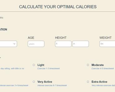 Calculate Optimal Calories In WordPress - Calorie Calculator