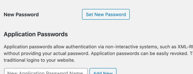 Disable The New Application Passwords In WordPress 5.6